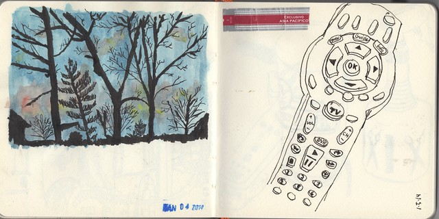 Sketchbook - Jan 4 & 5th, 2014
