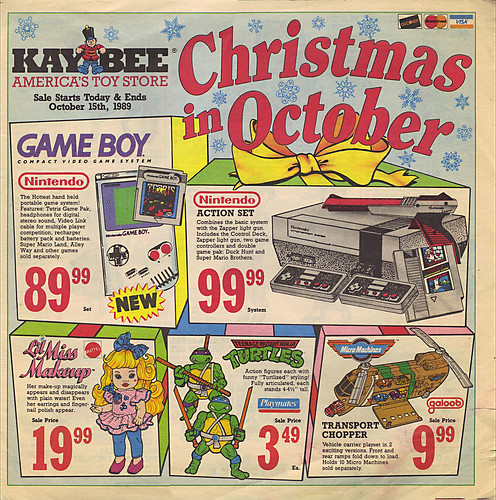 KAY•BEE TOY STORES :: Christmas in October pg.1  (( OCTOBER,8 1989 ))