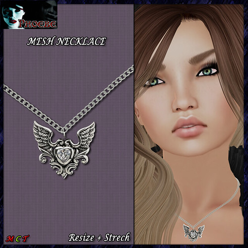 [NEW GIFT!] *P* MESH Necklace ~Fallen Heart~