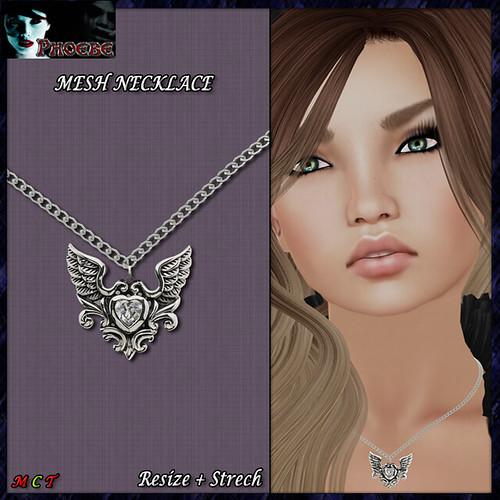 [NEW GIFT!] *P* MESH Necklace ~Fallen Heart~