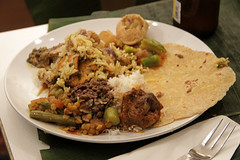 curry(0.0), produce(0.0), meal(1.0), breakfast(1.0), carnitas(1.0), meat(1.0), food(1.0), dish(1.0), cuisine(1.0),