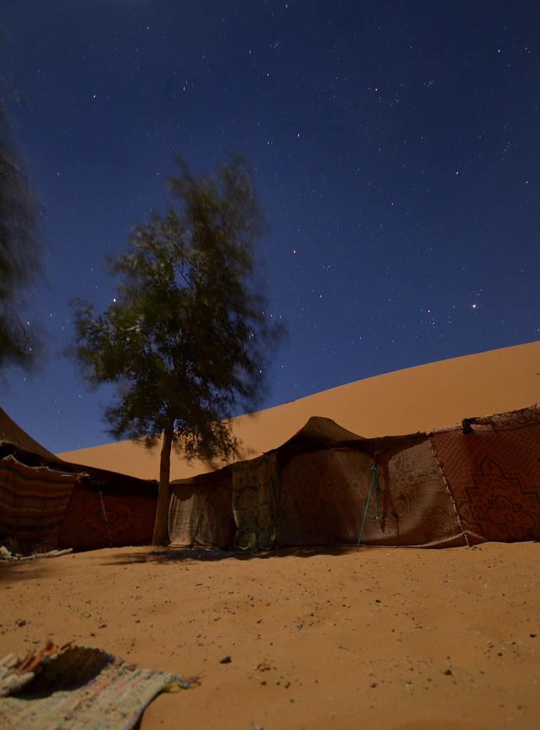 Jaima donde decidimos dormir en el desierto