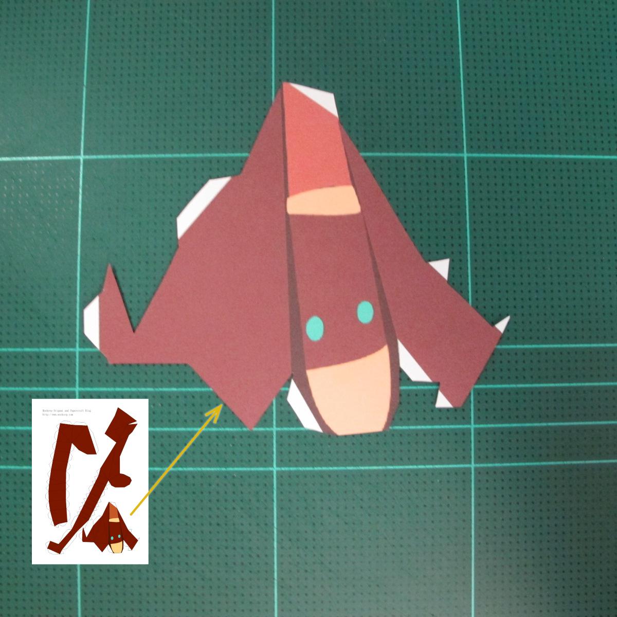 วิธีทำโมเดลกระดาษตุ้กตาคุกกี้รัน คุกกี้รสฮีโร่ (LINE Cookie Run Hero Cookie Papercraft Model) 008