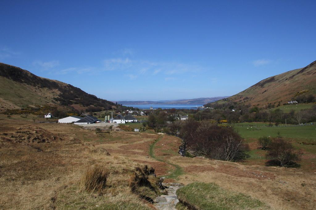 Ardrossan, Brodick, Lochcranza, Gleann Easan Biorach, Loch na Davie, Caisteal Abhail, Garbh Choire, Cir Mhor, Goat Fell, ceum na Caillich, The Witches Step
