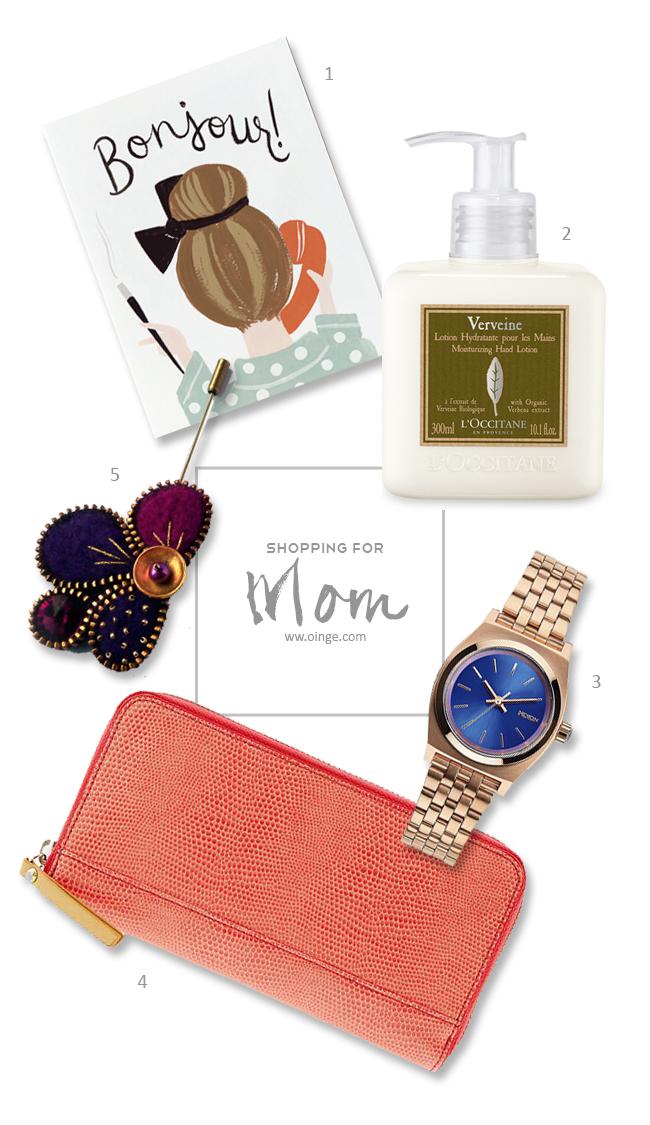 Shopping for mom