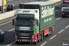 Volvo FH 6x2 Tractor - PX10 DDE - Victoire Terena - Eddie Stobart - M1 J10 Luton - Steven Gray - IMG_3336
