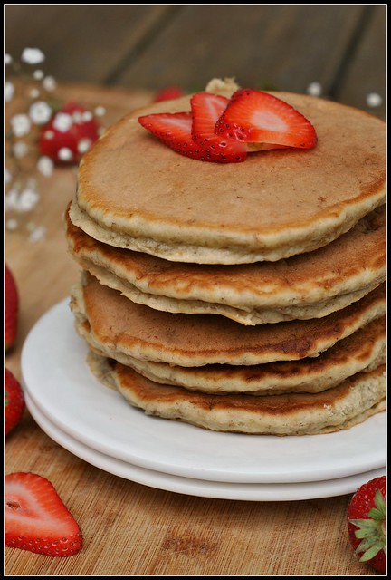 Banana Wheat Germ Pancakes 4