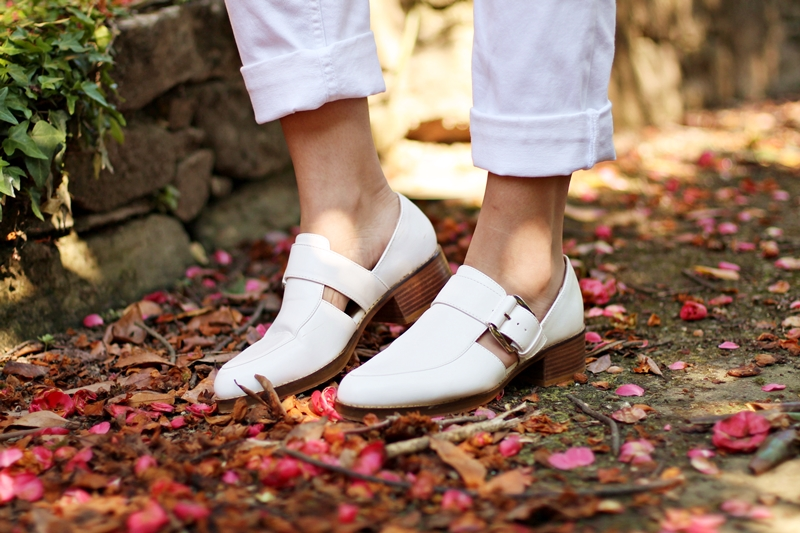 mango, zapato blanco zara
