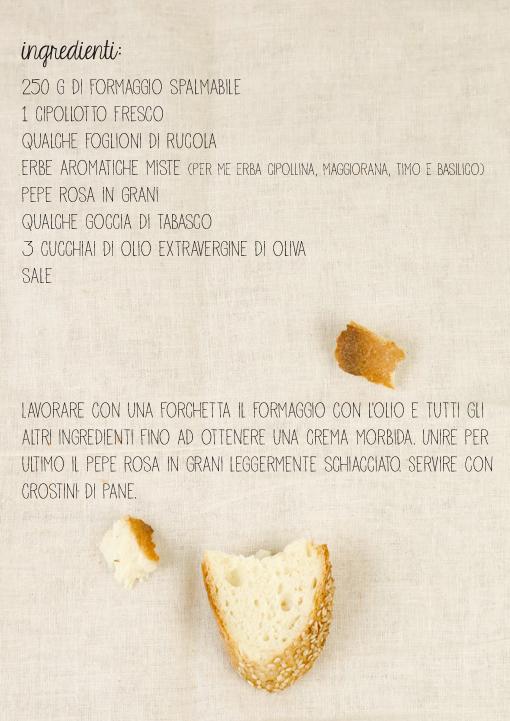 crema di formaggio aromatica