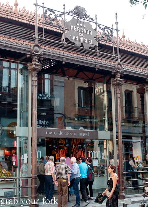 Mercado de San Miguel or San Miguel Market in Madrid, Spain