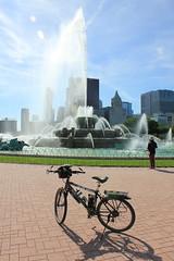 Bike and fountain