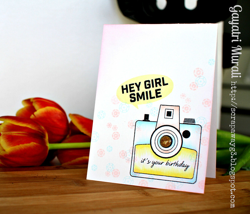 hey girl smile card