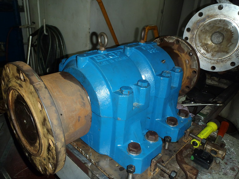 Propulsion Shaft Complete Assembly - Installed and Aligned