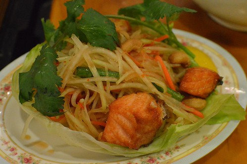 Miss Chu Tuckshop: Green papaya salad + salmon
