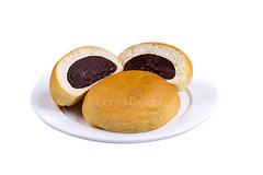 bun bread isolated