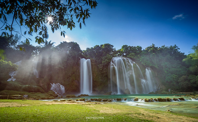 Bangioc waterfall in Caobang, Vietnam