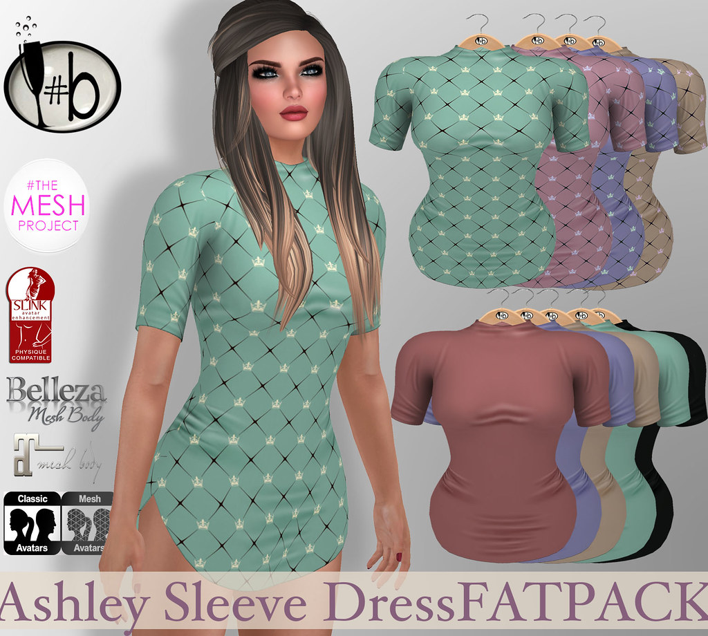 #bubbles NEW Release Ashley Sleeve Dress - SecondLifeHub.com