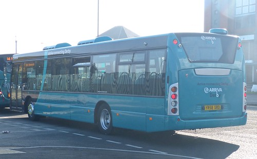 YR58 SRO 'Arriva Midlands' No. 3552 Scania Omnicity /2 on 'Dennis Basford's railsroadsrunways.blogspot.co.uk'