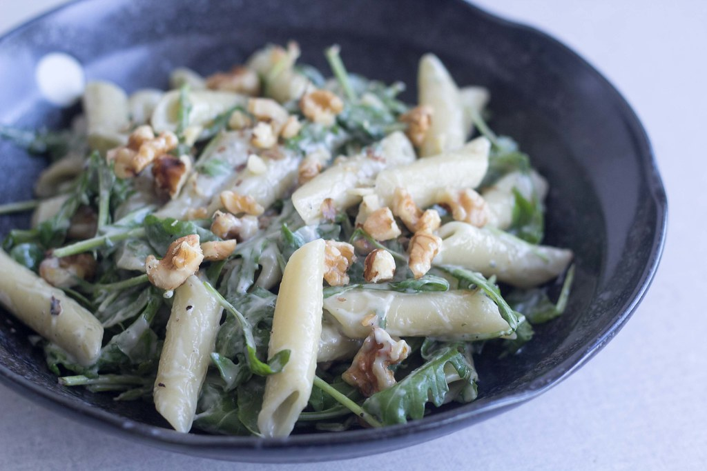 Pasta med gorgonzolasauce, ruccola og valnødder (16)