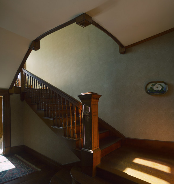 front stairwell in sunlight; 22 parker (2016)