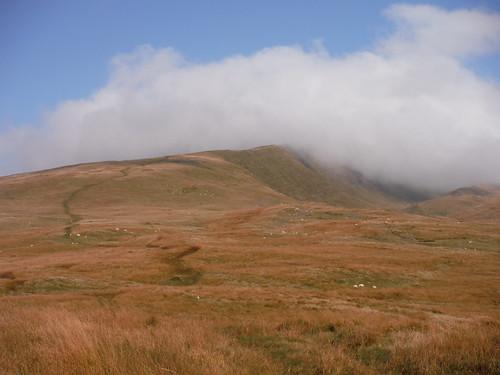 Fan Hir Ridge in clouds