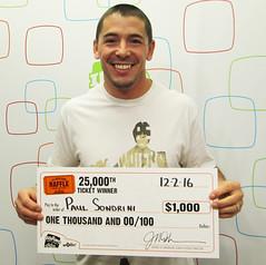 Paul Sondrini - $1,000 on Idaho Raffle