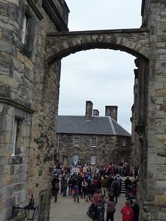 Crowds in Edinburgh Castle
