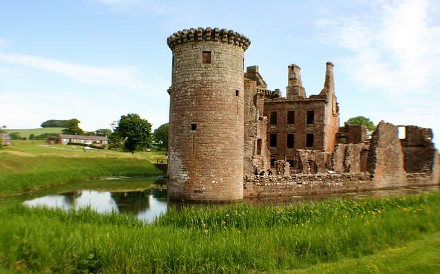 Caerlaverock Castle, Dumfries, Scotlan