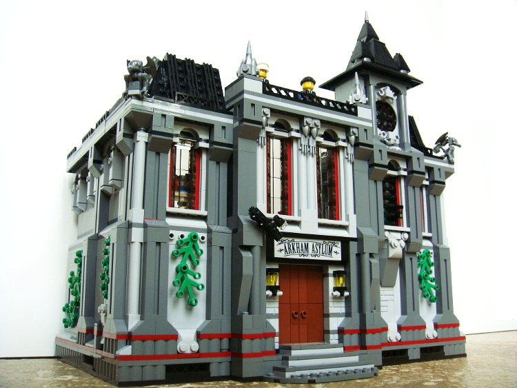 Moc Arkham Asylum Expansion Modular Style Add On Lego Licensed
