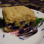 Blueberry cornmeal butter cake--SKC
