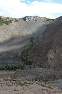 Collapsed mountainside at Earthquake Lake - 2