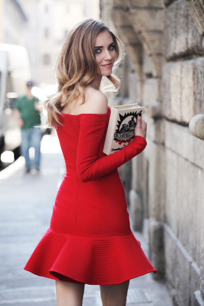 a red dress and a book the blonde salad