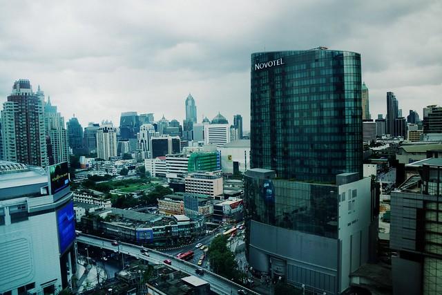 Views of the Pratunam neighbourhood in Bangkok, Thailand