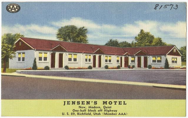 Jensen 39 s motel new modern quiet one half block off for Motel one wellness