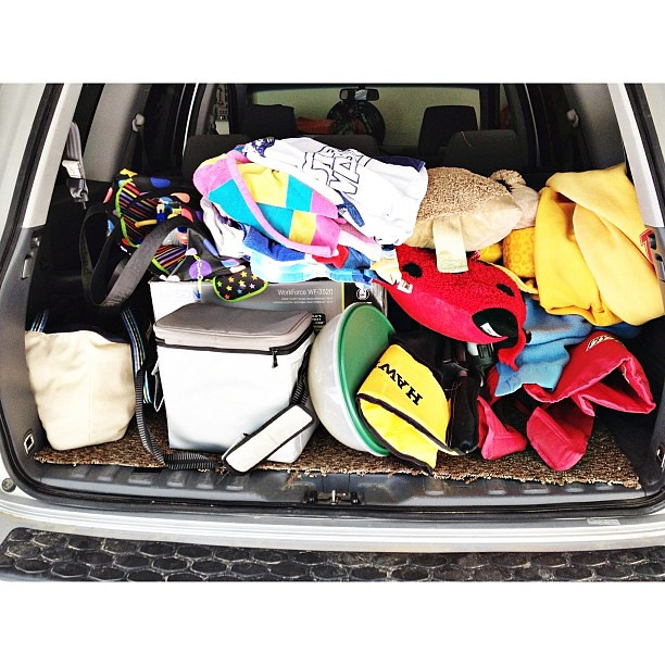 The back of our car - full of supplies for summer adventures  #pictapgo_app #summer
