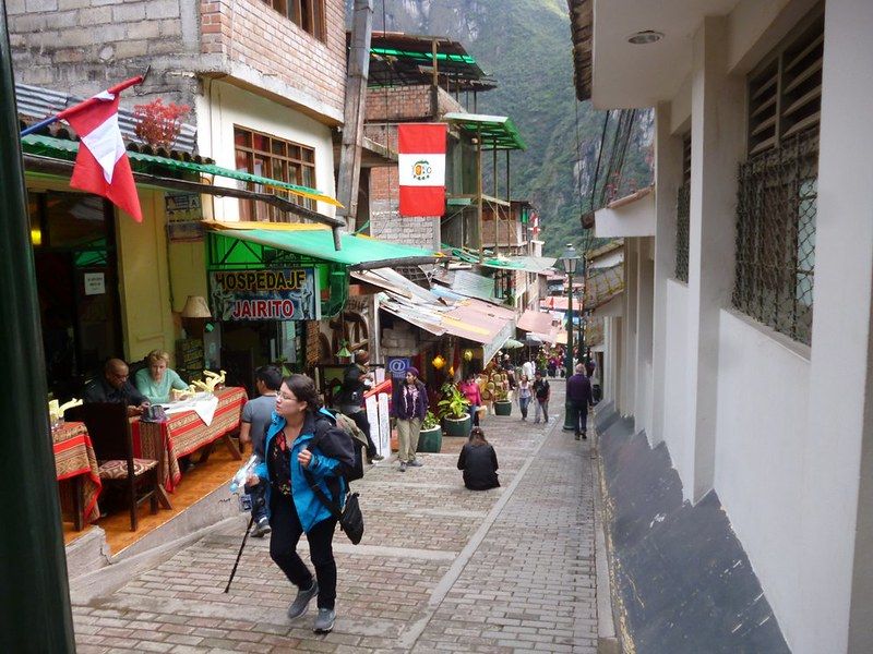 Tourist street in Aguas Calientes