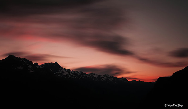 Last light over Massif de Belledonne