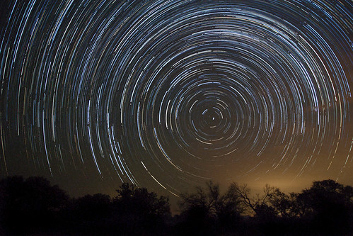 Star trails while watching Perseid meteor shower