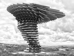 The Singing Ringing Tree, Crown Point, Burnley, Lancashire (SD 851289) [HDR Toning Applied]