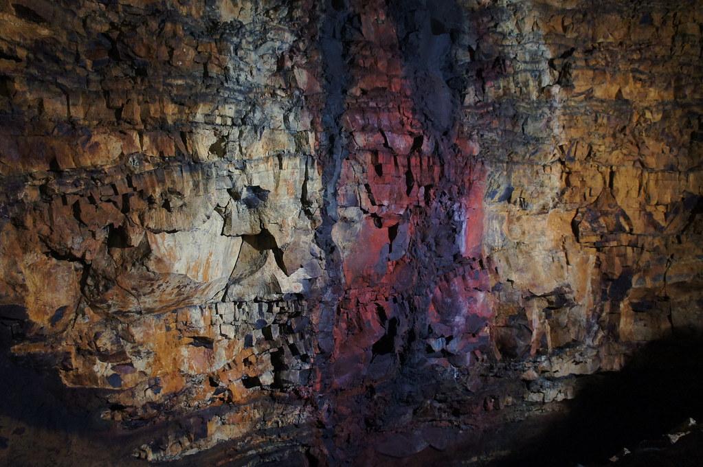 The Oxidized Walls of Thrihnukagigur Dormant Volcano, Iceland. Summer 2013.