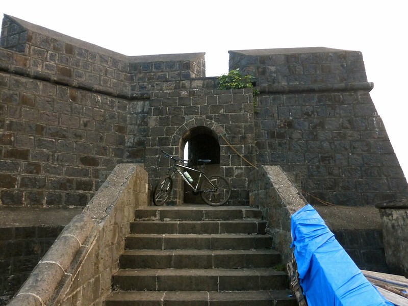 Worli Fort - steps to entrance