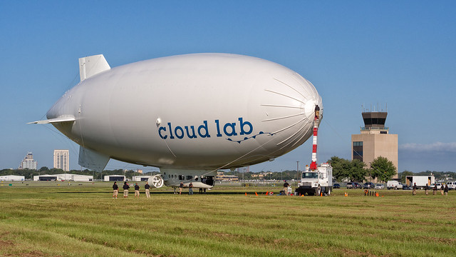 blimp launch, step 1