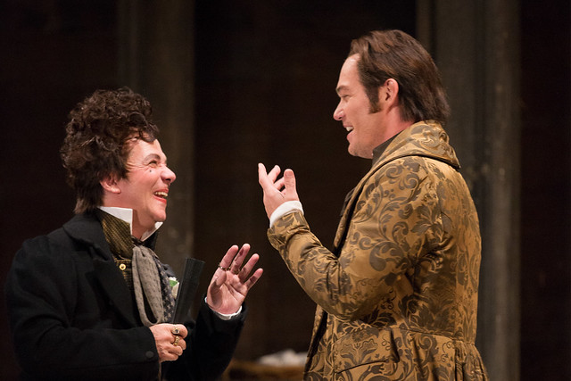 Jean-Paul Fouchécourt and Christopher Maltman as Count Almaviva in Le nozze di Figaro © ROH / Mark Douet 2013