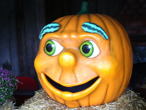 Gourdon the talking pumpkin