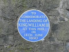 Photo of William III blue plaque