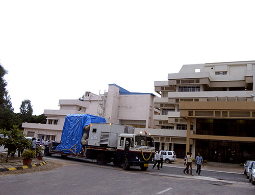Spacecraft leaving for SHAR Sriharikota from ISITE ISAC Bangalore