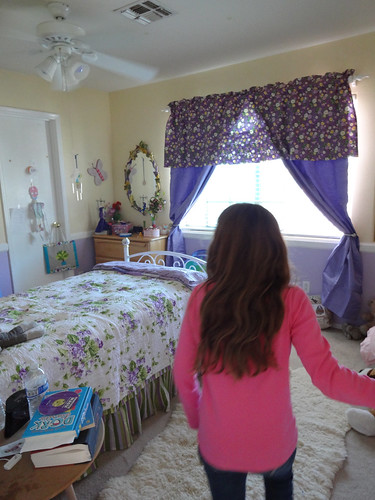 Kimberly seeing her new room