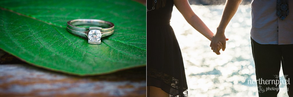 Des & Karl's Engagement Session Ring