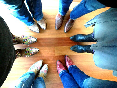 Girls with boots in class with Melody Ross at Serendipity. I'm the hearts with wings.