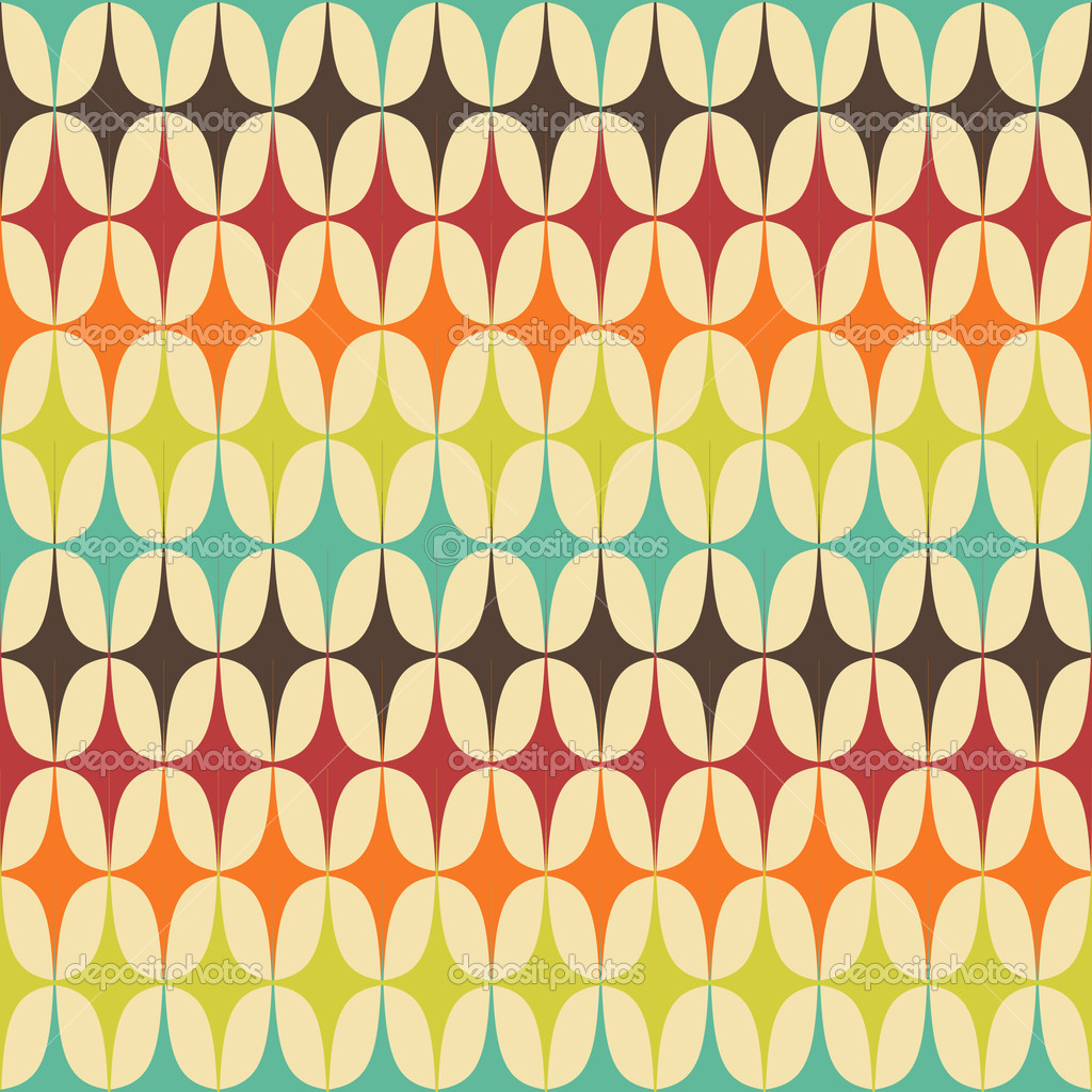 Abstract retro geometric seamless pattern with triangles - Papel de pared retro ...